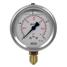0-16 bar/Mpa  Double scale 63MM Dial All SS Pressure Gauge Glycerine Filled Bottom